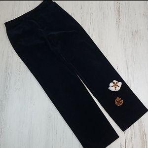 Gap Straight Leg Navy Velour Trouser